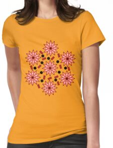 Floral turmoil Womens Fitted T-Shirt