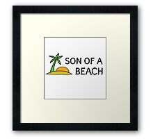 Funny Cool Humour Summer Holliday Beach Sun Framed Print