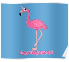 Flamingocorn Poster