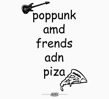 Pop Punk and Friends and Pizza - Black Unisex T-Shirt