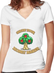 Shake Your Money Maker - Apples  Women's Fitted V-Neck T-Shirt