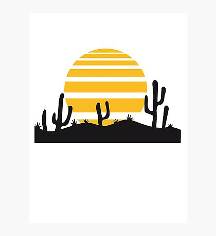 sun landscape pattern desert evening night sunset sunrise kakten cactus hot hot Photographic Print
