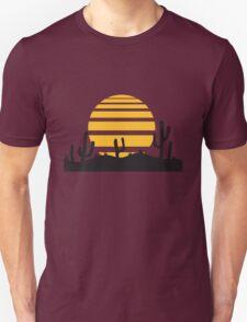 sun landscape pattern desert evening night sunset sunrise kakten cactus hot hot Unisex T-Shirt