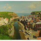 Staithes looking towards the harbour by Graham Clark
