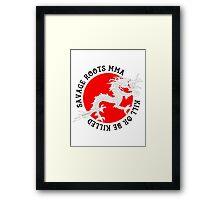 Savage Roots MMA Dragon BLK Framed Print