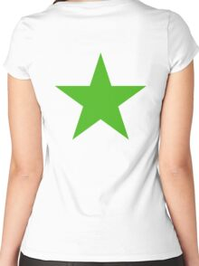 GREEN, STAR, Environment, Environmentalist, Ecology, Eco, Nature, Green, Women's Fitted Scoop T-Shirt
