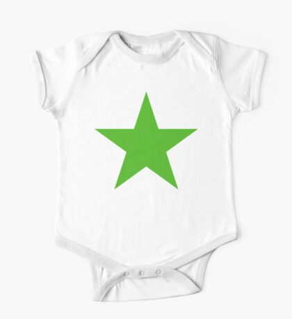 GREEN, STAR, Environment, Environmentalist, Ecology, Eco, Nature, Green, One Piece - Short Sleeve