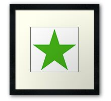 GREEN STAR, Environment, Environmentalist, Ecology, Eco, Nature, Green, Framed Print