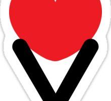 Love (05 - Black & Red on White) Sticker