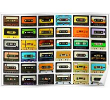 1980's Cassette Tapes Montage Poster