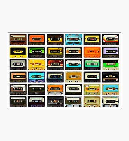 1980's Cassette Tapes Montage Photographic Print