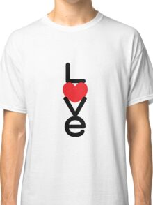 Love (05 - Black & Red on White) Classic T-Shirt