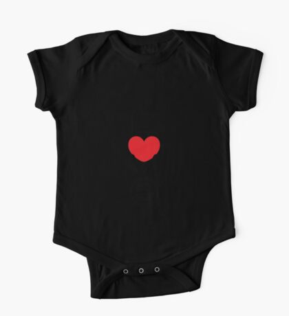 Love (05 - Black & Red on White) One Piece - Short Sleeve