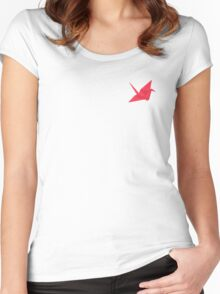 Paper Crane for the best papering that is paper Women's Fitted Scoop T-Shirt