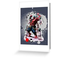Oil Shower Greeting Card