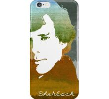 BBC Sherlock Holmes Watercolor Art iPhone Case/Skin