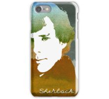 BBC Sherlock Holmes Watercolor Art iPhone Case/Skin