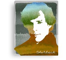 BBC Sherlock Holmes Watercolor Art Canvas Print