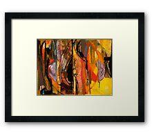 MASKS OUTRAGEOUS AND AUSTERE—AUDEN Framed Print
