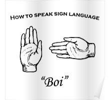 Boi (sign language) Poster