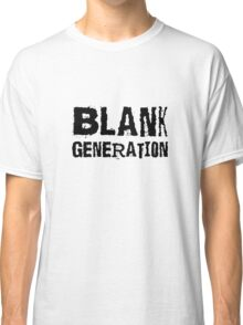Black Generation Punk Rock Music Richard Hell Classic T-Shirt