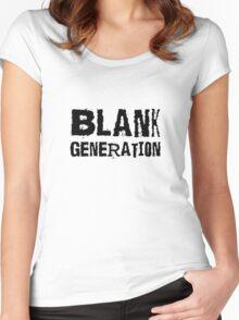 Black Generation Punk Rock Music Richard Hell Women's Fitted Scoop T-Shirt