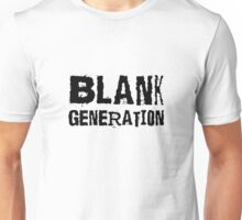 Black Generation Punk Rock Music Richard Hell Unisex T-Shirt