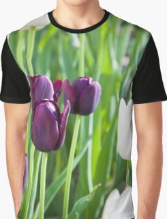 Tulips in A Field 1 Graphic T-Shirt