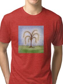 Whimsical Willow Tree Tri-blend T-Shirt