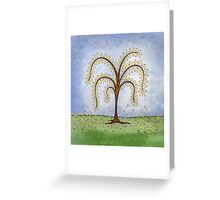 Whimsical Willow Tree Greeting Card