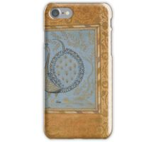 Calligraphic Composition in Shape of Peacock iPhone Case/Skin