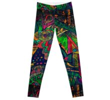 chaos and colors in my soul Leggings