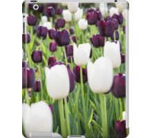 Purple and White Tulips in a Field iPad Case/Skin