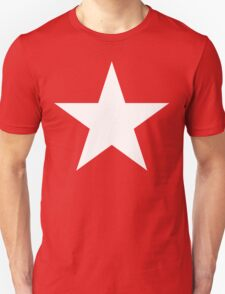 WHITE STAR, Bright Star, STELLAR, ACHIEVEMENT, cool, on RED T-Shirt