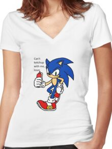 Can't Ketchup Women's Fitted V-Neck T-Shirt