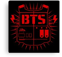BTS (ARMY Red) Canvas Print