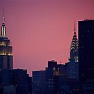 Empire State Building and Chrysler Building by Jean-Luc Rollier