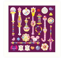 Ojamajo Doremi Items Art Print