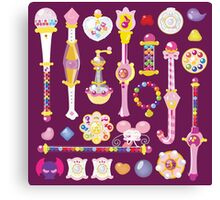Ojamajo Doremi Items Canvas Print