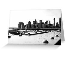 Manhattan from Brooklyn Bridge Greeting Card