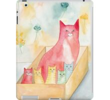 Mom and Kittens in a Box iPad Case/Skin