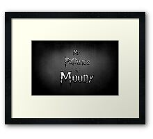 My Patronus is Moony Framed Print