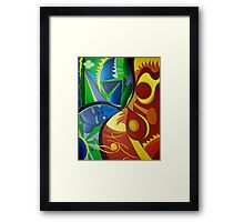 Color Chaos / Abstract Art - Colorful Framed Print