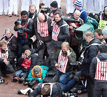 Press At The London Marathon 2016 by Keith Larby