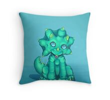 Pudge the dinosaur  Throw Pillow
