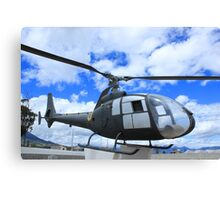 Helicopter on Display Canvas Print