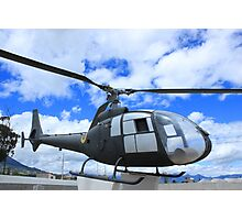 Helicopter on Display Photographic Print