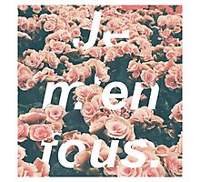 Je m'en fous with flowers Photographic Print