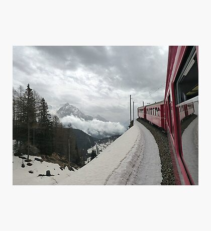 The Bernina Train Photographic Print