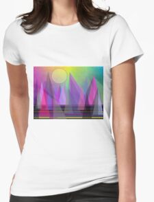 Abstract Elevation Womens Fitted T-Shirt